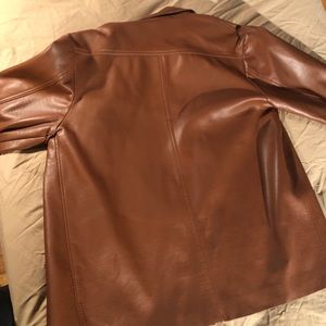 Brigade Jackets & Coats - Vintage Brown Leather Button-Up Jacket